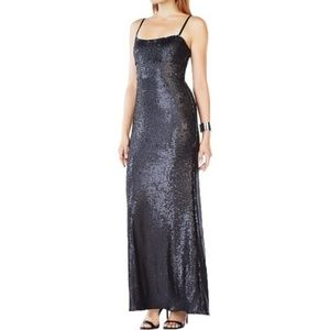 Black Sequin BCBG Gown